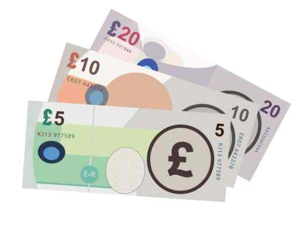 pound notes graphic