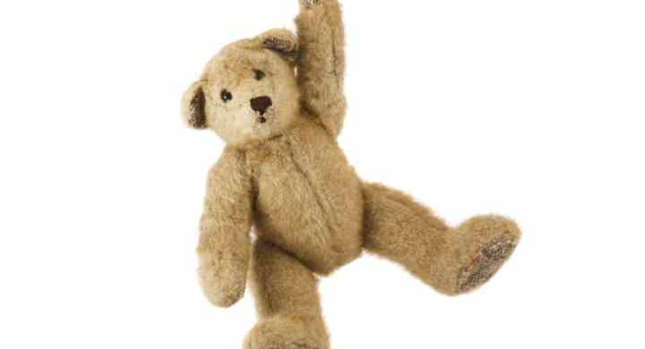 Vintage tan teddy bear