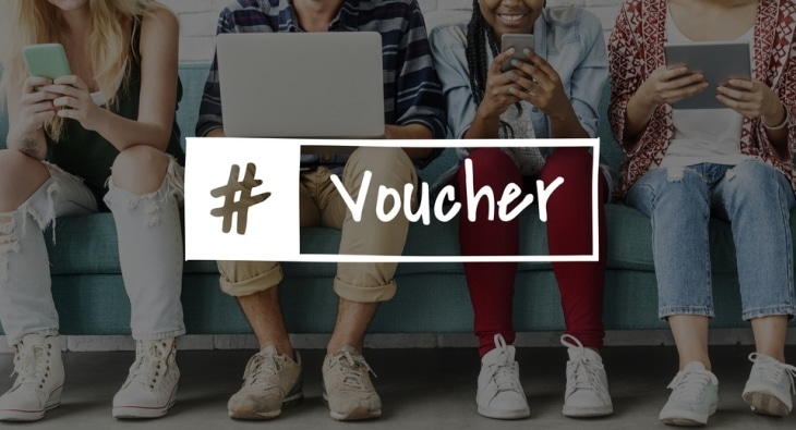 #Voucher graphic