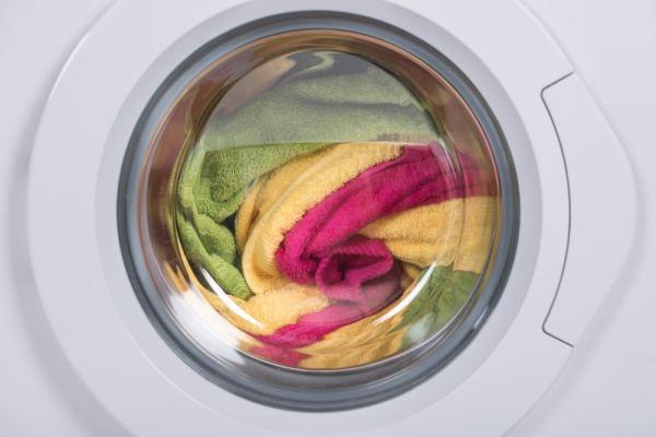Washing machine full of laundry