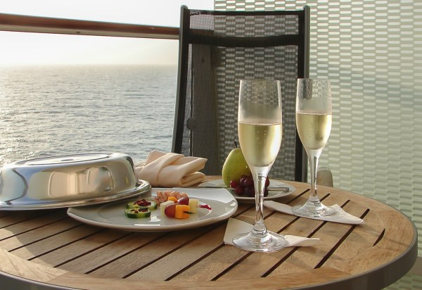 Meal on cruise ship