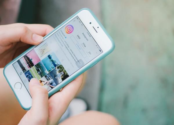 Instagram app on phone