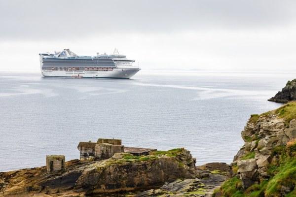 Cruise ship off the coast of Scotland