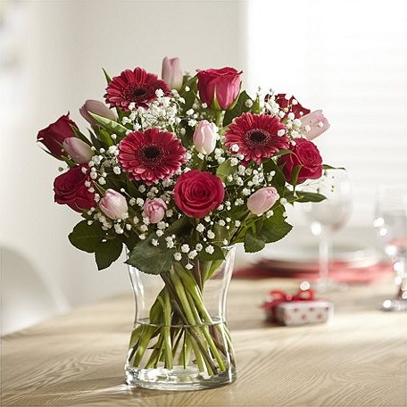 Fondest Love Pink Rose, Tulip & Germini From Tesco Direct