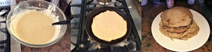 Pancake cooking process