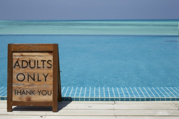 Adults only holiday