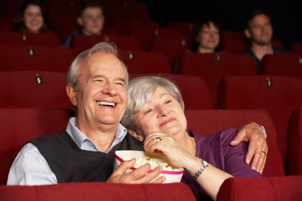Older couple at the cinema