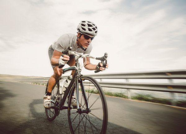 Sporty cyclist