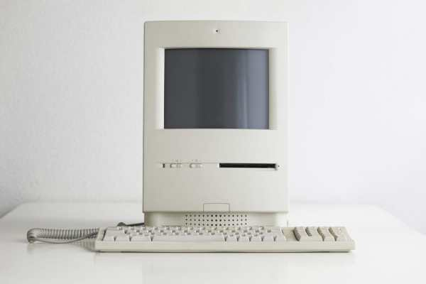 Old white computer