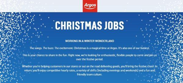 Argos website banner
