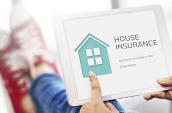 Home insurance site on tablet
