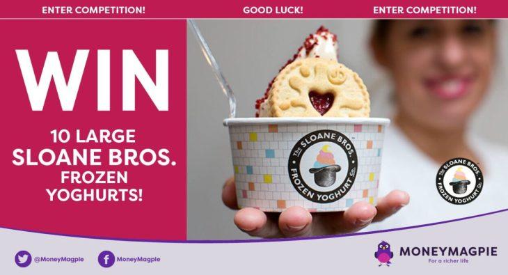 Win 10 large Sloane Bros. frozen yoghurts