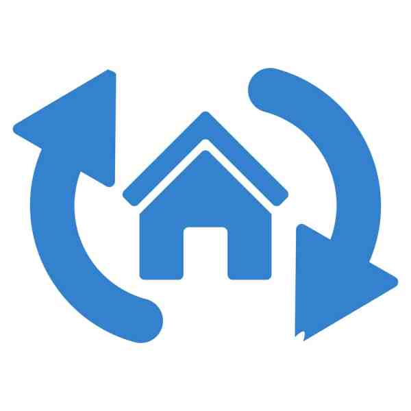 home swapping graphic logo
