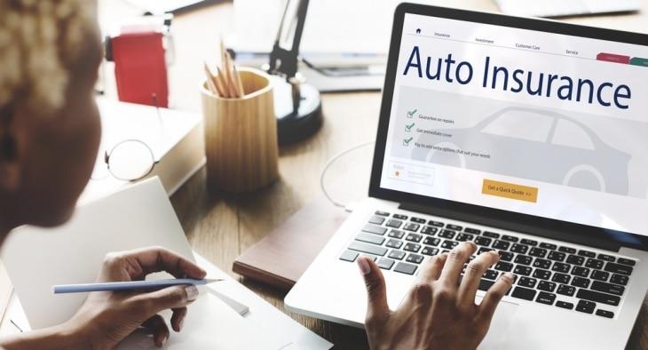 Auto Insurance on Laptop
