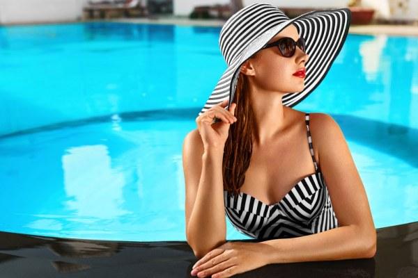 Woman in Resort pool