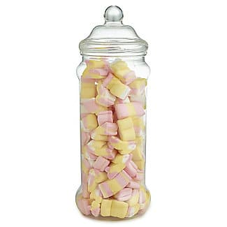 Marshmallow animals in old fashioned jar