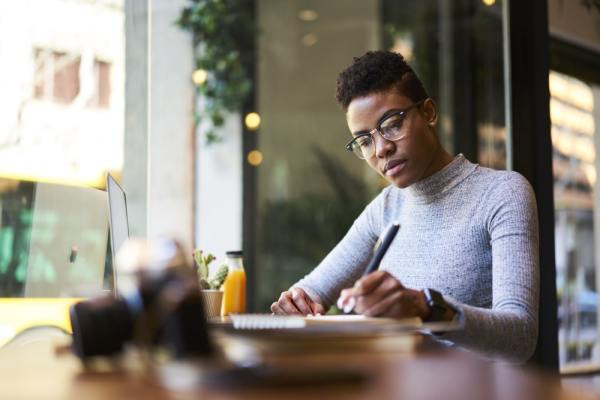 Image result for image of black woman writing