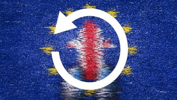 Brexit undo arrow concept