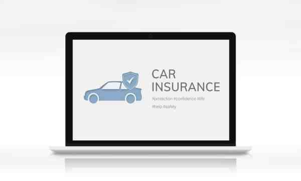 Car Insurance graphic on laptop