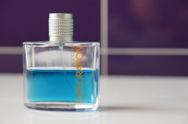 Half empty perfume ebottle