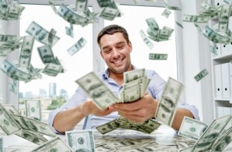 Man throwing money in the air