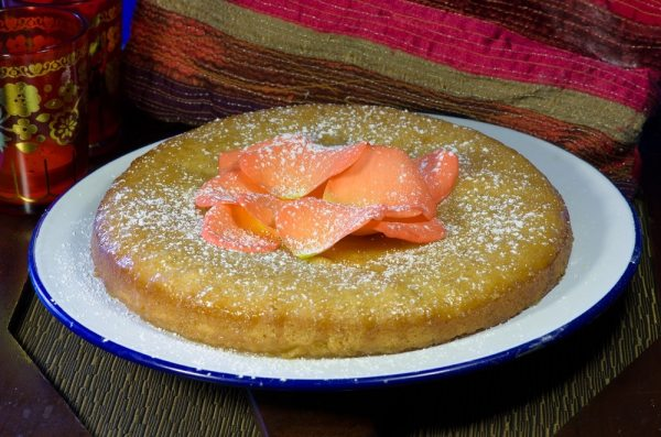 Orange Lemon and rose cake