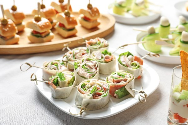 Healthy finger food buffet