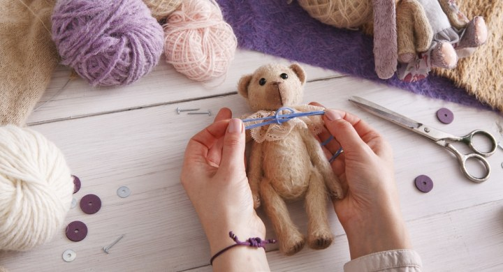 Sew knit or crochet cuddly toys to make money
