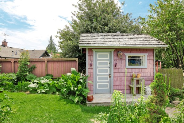 Small pink shed
