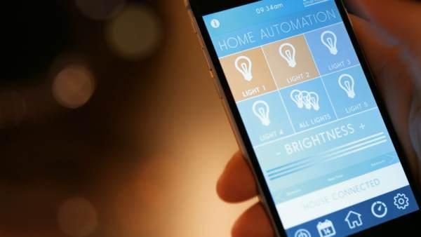 Smart lighting app on phone