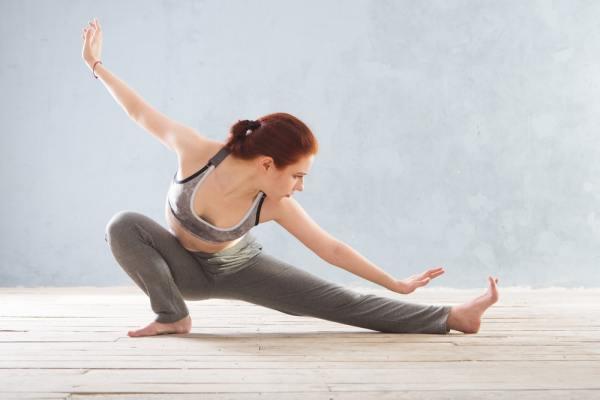 Woman practising tai-chi