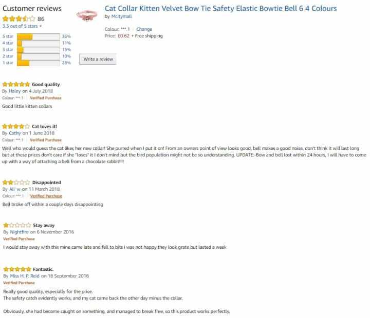 Cat Collar Reviews