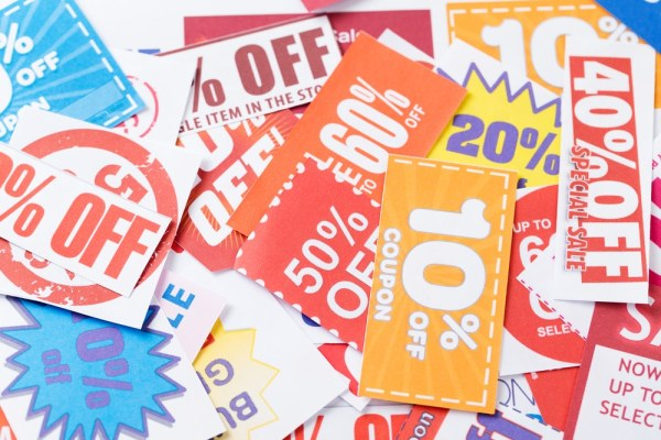 colourful coupons