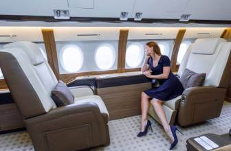rich woman aeroplane