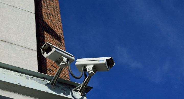 Security cameras capturing CCTV