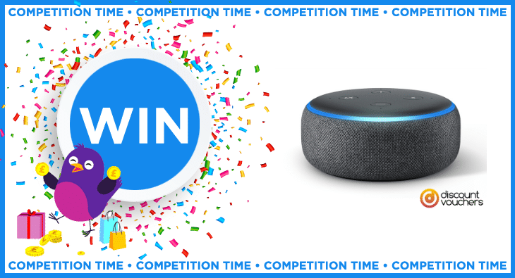 Win an amazon echo dot competition prize thanks to discount vouchers. Competition prizes on moneymagpie