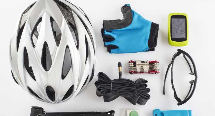Cycling involves some safety gear