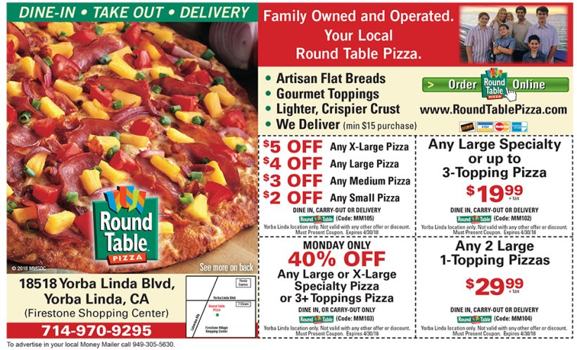 Round Table Pizza Coupons Kennewick.Round Table Pizza Code Jidiletter Co
