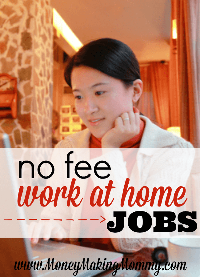 No Fee Work at Home Jobs