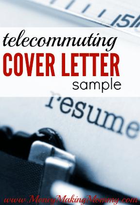 Free Resume Cover Letter Sample for Telecommuting