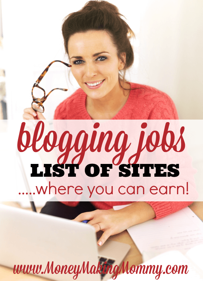 Blogging Type Jobs You Can Do From Home