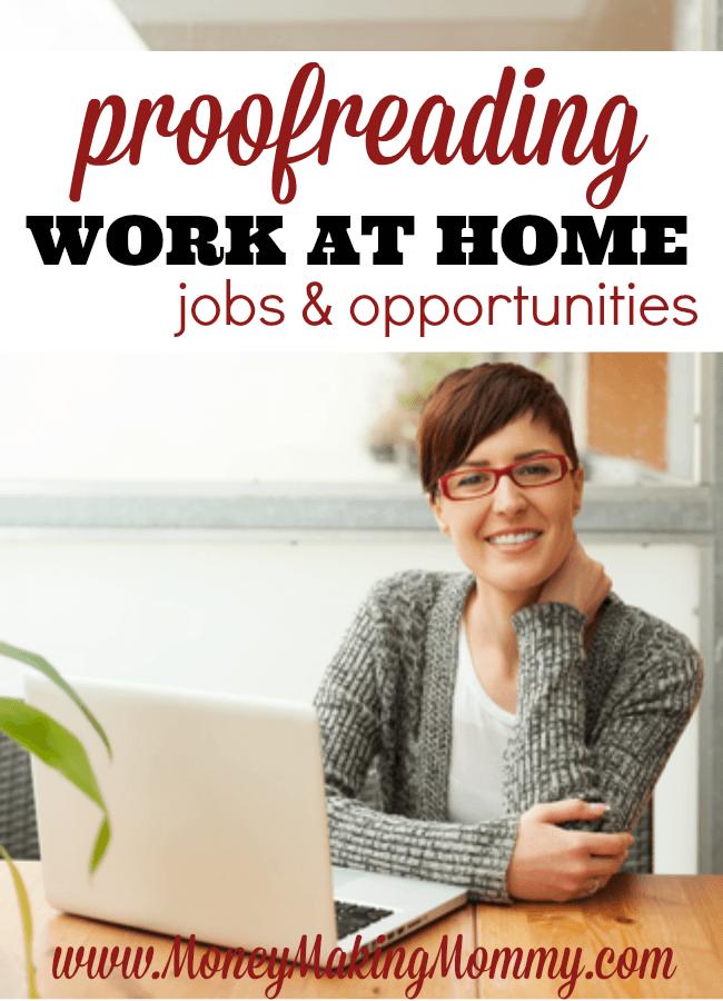 Proofreader Work at Home Jobs