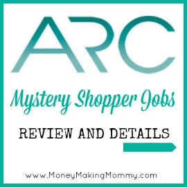 Arc Mystery Shopper Jobs
