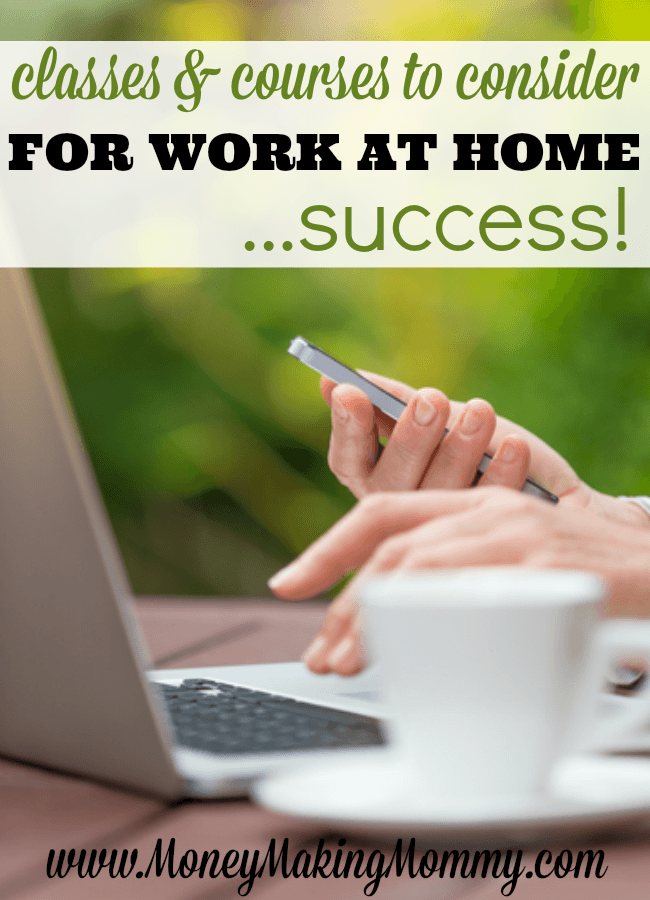 Online classes and courses that can help you land the work at home career you're dreaming of! Some are even FREE.