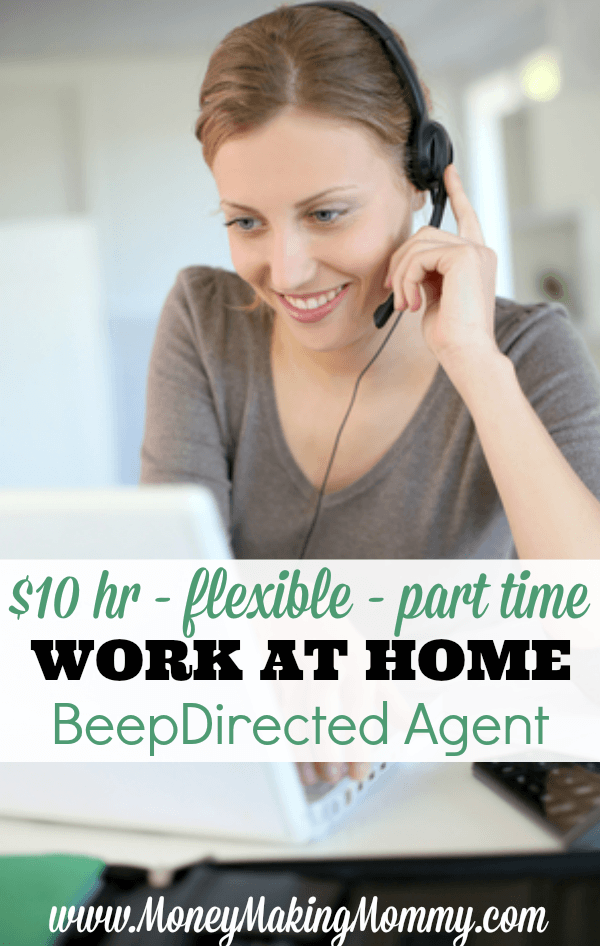 Looking for a fun, flexible work at home job? Yes - this requires phone work - but it's different. It's also flexible and pays $10 an hour. -MoneyMakingMommy.com -  https://www.moneymakingmommy.com/beep-directed-jobs/