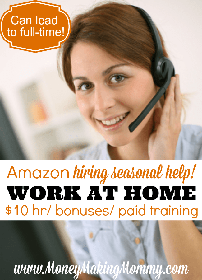 customer service work from home amazon work at home for amazon seasonal help 10 hour bonuses 355