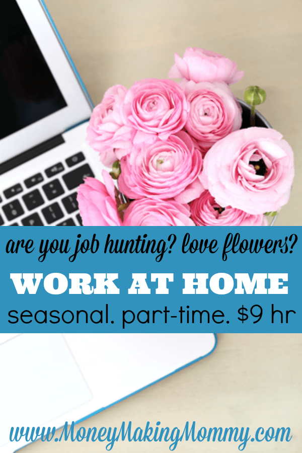 Love Flowers? Work at Home for 1800Flowers
