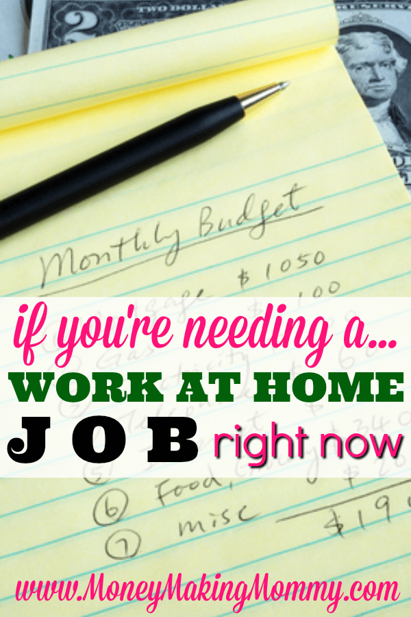 if you need a legitimate work at home job right now find work at home now