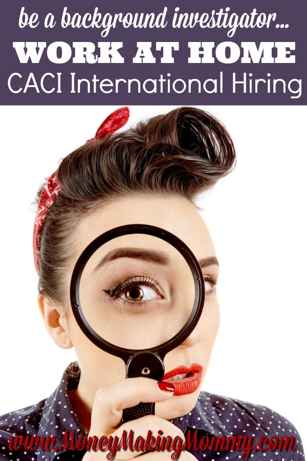 CACI International Work at Home Jobs