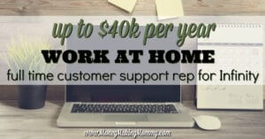 Well Paying Work at Home Customer Support Position